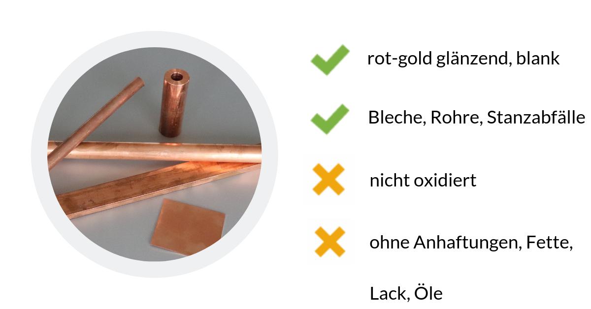 Kupfer Kerze ist blankes Kupfer zu 99%.